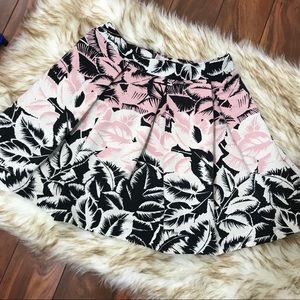 Pleated circle skirt